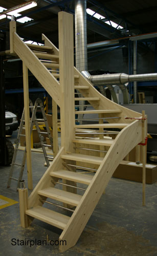Staircases staircases from stairplan the manufacturers for Building winder stairs