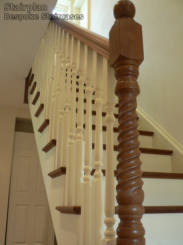 Brooklyn Bespoke Staircase Oak With Ascending Volute