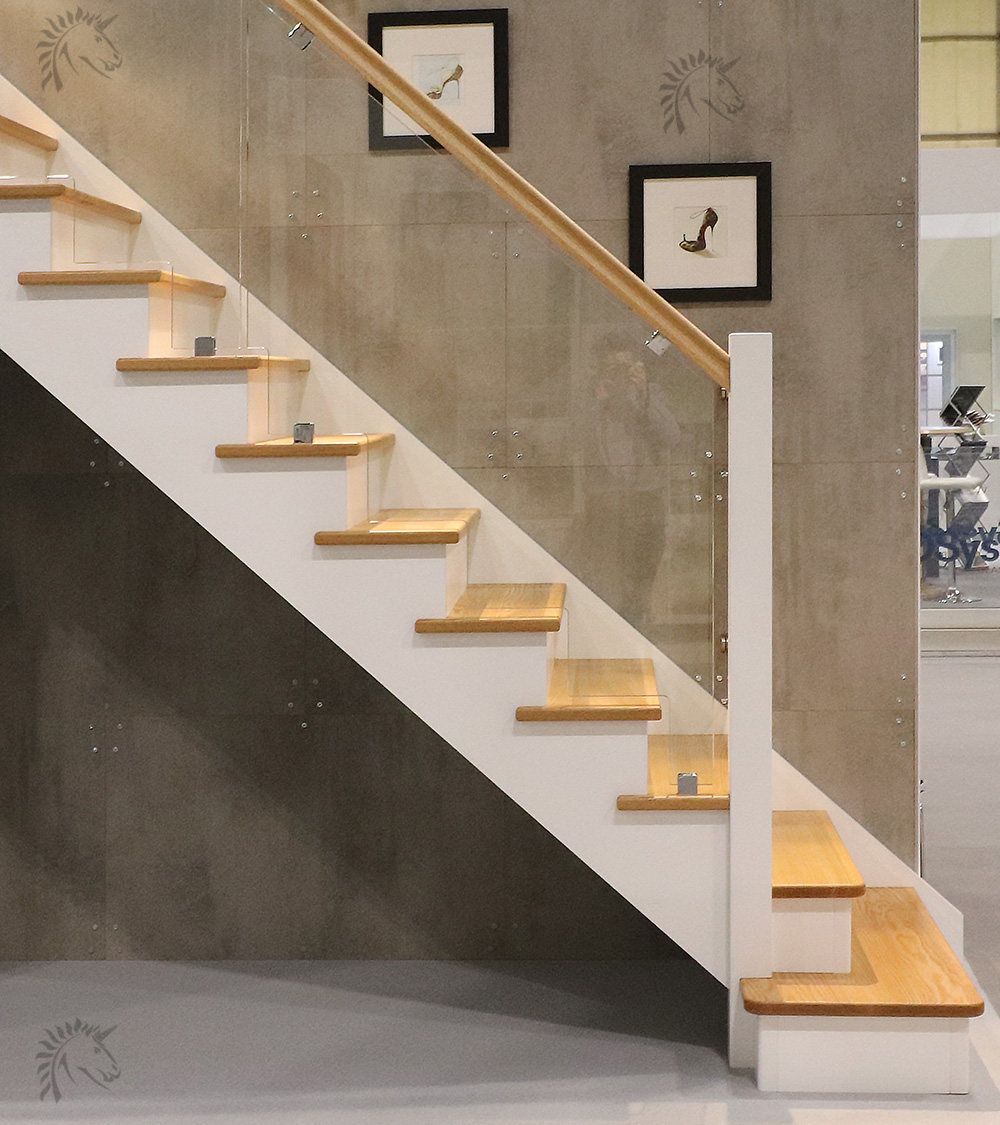 Rustic Staircase Design Ideas Newel Post Design Staircase: Dallas Cut String Staircase With Glass Stepped Balustrade