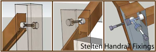 Stelten handrail connector