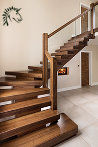 Black Walnut X Vision Staircase Design With Gl