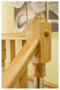ikon top newel detail