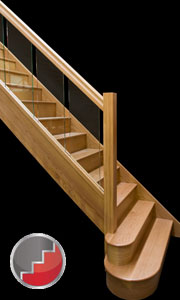 Houston Oak staircase with glass banister