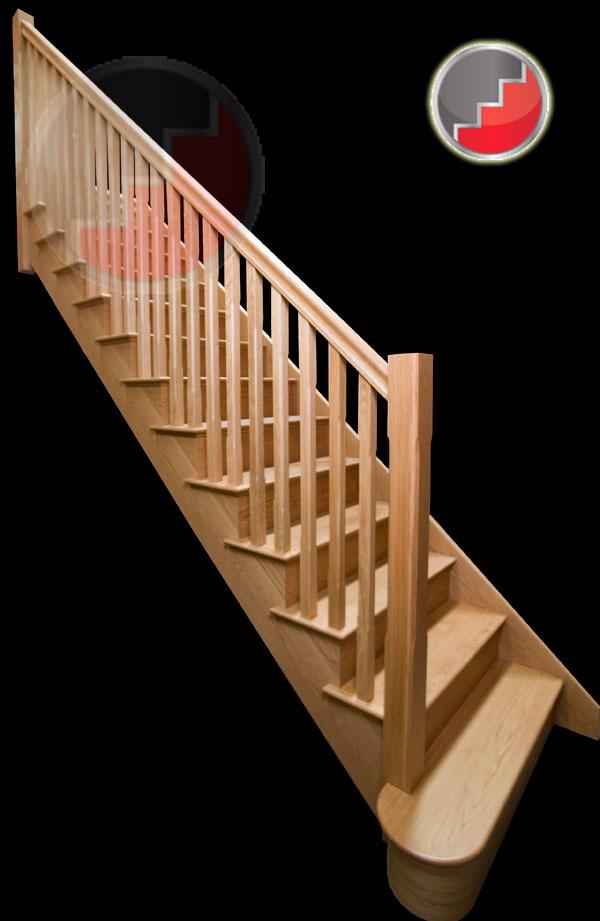 Kensington Oak Staircase Oak Cut String Staircases