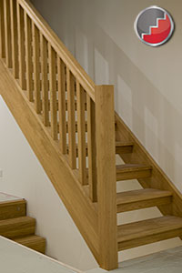 Boston Oak Openplan Staircase Open Risers Designed For The Uk Regulations