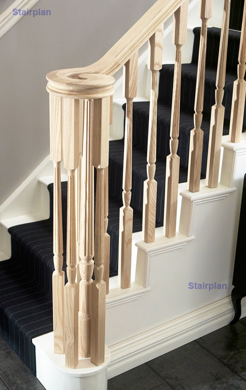 Ash Fluted Stair Spindles richard burbidge archwood stair part