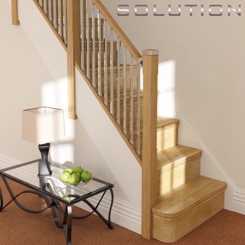 Solution Stairparts Chrome Spindles Oak Staircase Parts