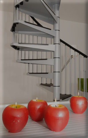 Grey civic spiral Stair kit from Arke