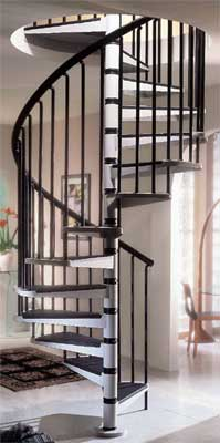 Gamia metal spiral staircase trade price list from stairplan for Aluminum spiral staircase prices