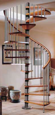 wood silver grey spiral staircase trade price list from stairplan