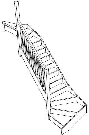 Left Hand Double Winder Staircase Fix Left Turn