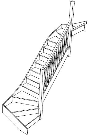Right Hand Double Winder Staircase Fix Left Turn