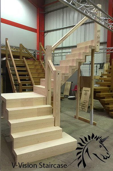 first V-Vision staircase in white ash