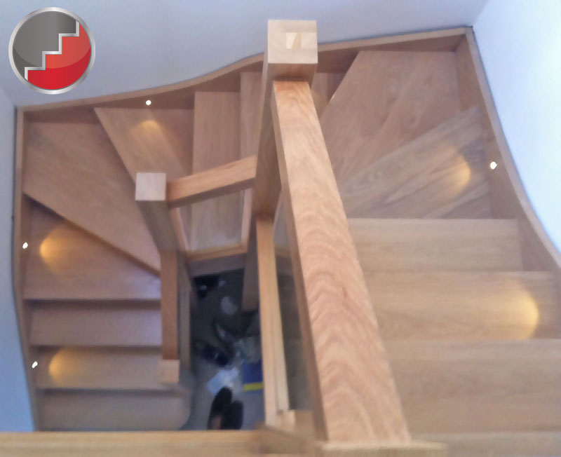 glass staircase panels l groove recessed handrails. Black Bedroom Furniture Sets. Home Design Ideas