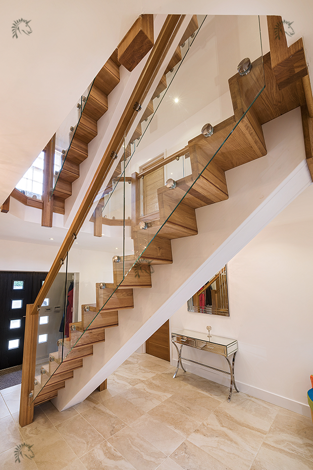 Z Vision Staircase Central Feature Oak Staircase