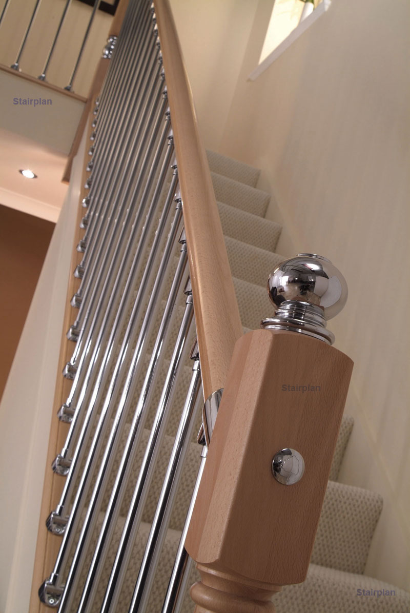 Axxys beech staircase close up