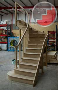 Curved Staircase with Volute