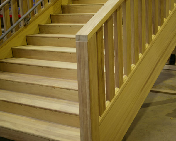 External hardwood balustrades