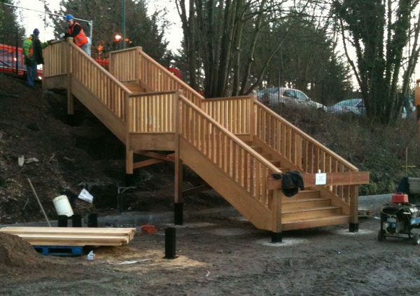 Staircase during installation onsite.