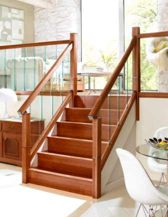 walnut stair handrail