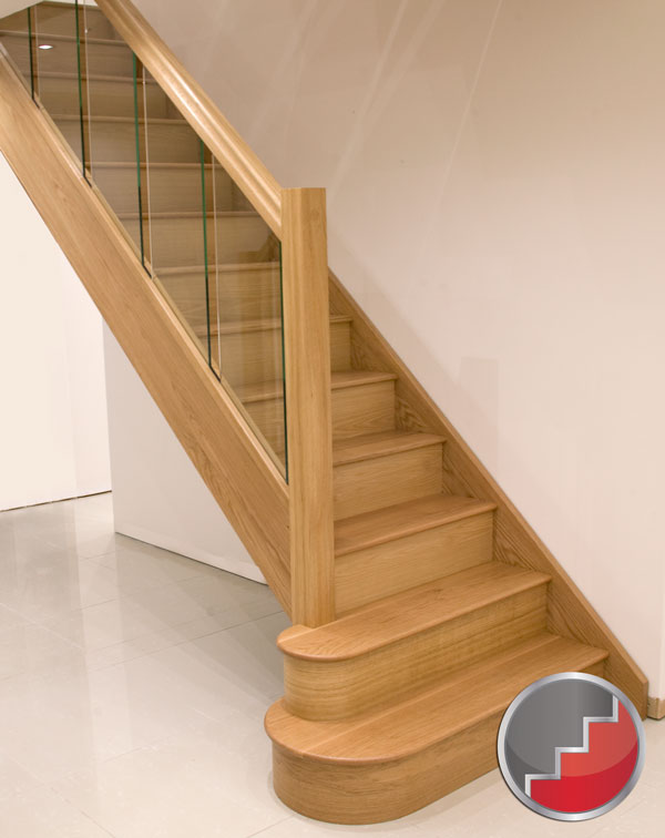 Glass staircase design 10 the most cool glass staircase for Stair remodel houston