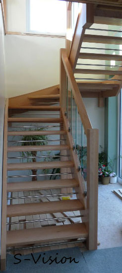 Openplan staircase with s-vision