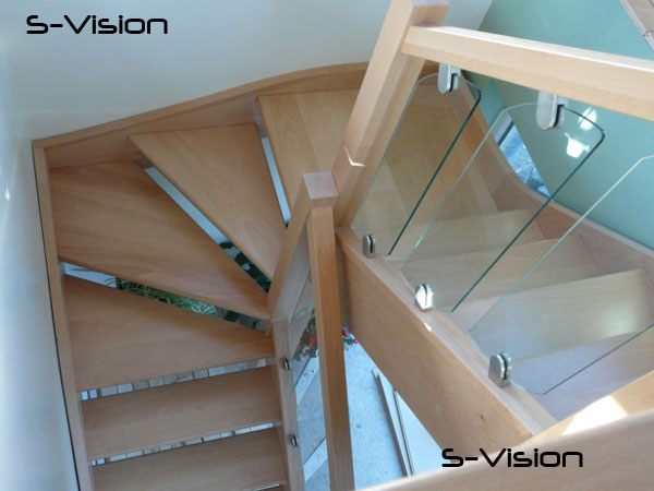 S-vision glass rake panels