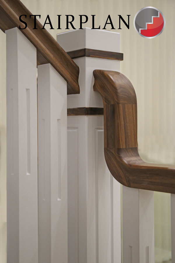stair handrails walnut