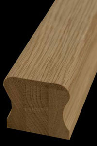 Oak ungrooved handrail