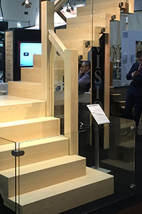 V-Vision staircase design ideas glass and Ash timber