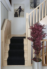 The Chelsea staircse in Pure White Ash