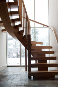 Oak curved staircases x vision design