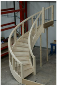 Perfect Custom Hand Made Oak Staircases, Curved Oak Staircase Details, Circular  Stair Design