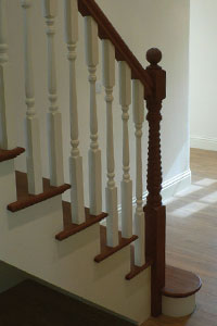 Cut String staircse with hardwood treads