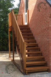 External hardwood staircases