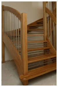 Oak Openplan Staircase with the european style handrail