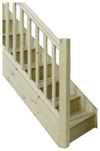 Pine entry level staircases