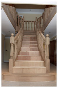 Prescot flared Staircase impressive wreathed stair design