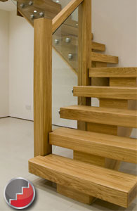 X-Vision Oak Staircase with glass