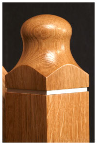 Modus Oak newel cap detail