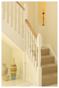 modus White with a Oak handrail