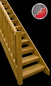 Boston Oak openplan staircase