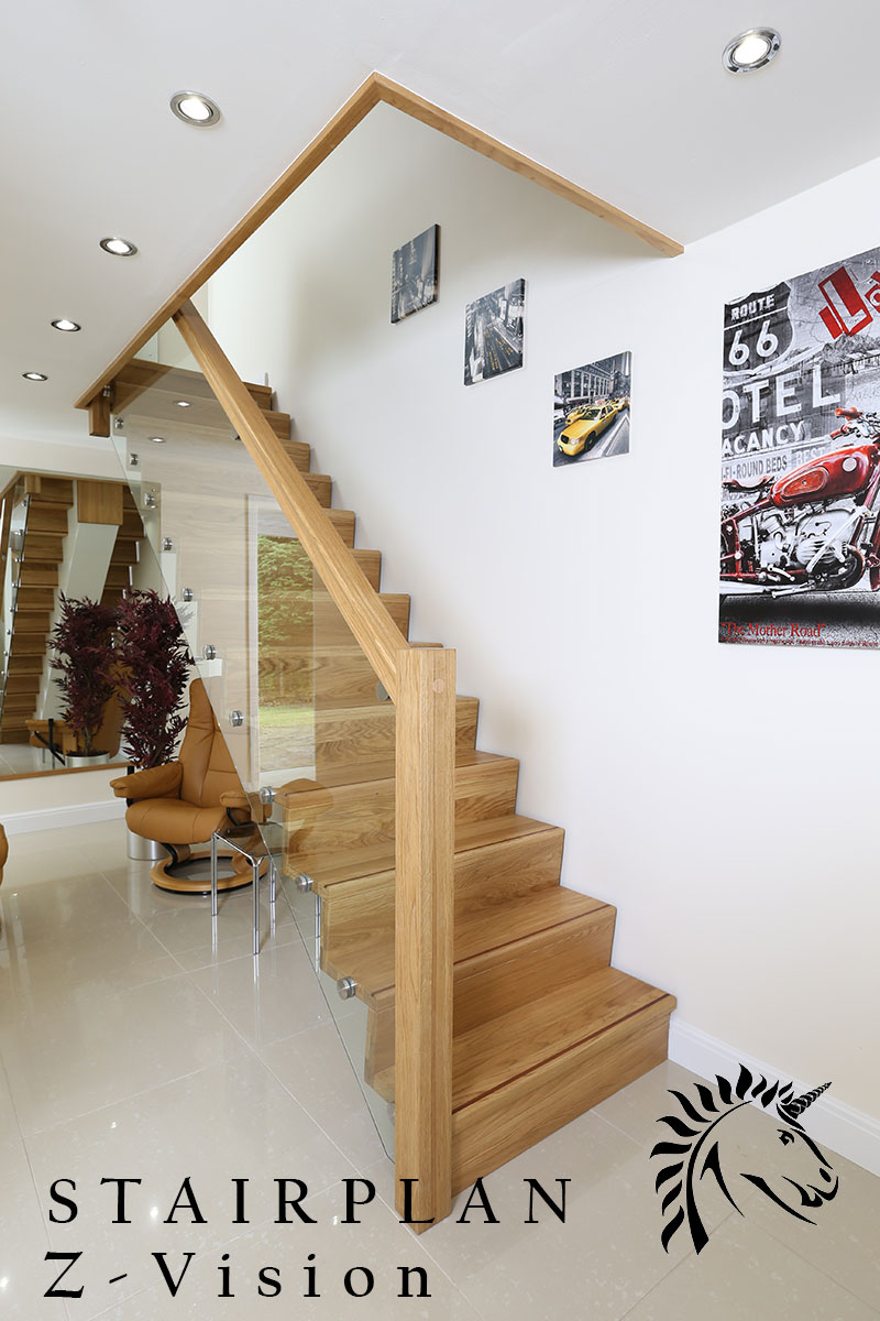 The Z-Vision staircase by stairplan offers a refined quality and contemporary styling.