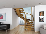 Curved Oak X-Vision Staircase