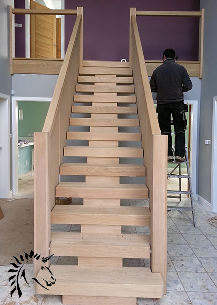 Central Feature Staircase In Oak