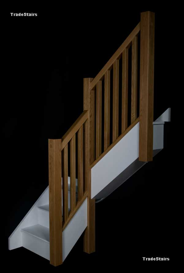 The Newark staircase with Oak Handrails