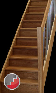 Oak european style staircase stainless steel baluster