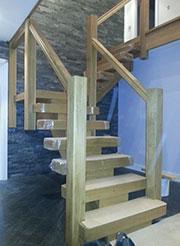 open plan oak x-vision staircase