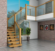 Openplan winder staircase oak x-vision specification