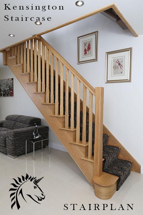 Beau Kensington White Oak Cut String Staircase